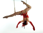 Felicity Fyr Le Fay on Trapeze by Stu Freeman
