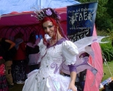 Felicity as the Fairy Queen at 3 Wishes Fest