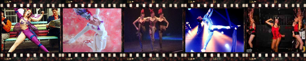 Film Strip of Dance and Circus Performance